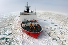 The US Coastguard has three ice-breakers in contrast to Russia's patrols of the Northern Sea Route.