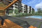 An artist's impression of the proposed apartments to be built in the Wellington/Ellerslie area.
