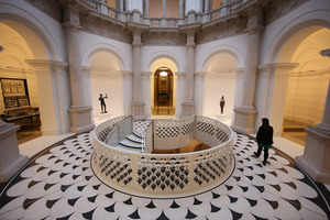 Architects have revitalised Tate Britain's entrance, cafe and gallery spaces in a £45 million project, which included a new staircase in the rotunda. Photo / Getty Images