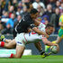 Sam Burgess of England scores his sides third try. Photo / Getty Images