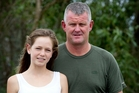 Brya Lowry-Thomas and her father Scott Lowry rescued Wanja Drees after he fell on Mt Ruapehu.  Photo / Christine Cornege