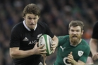 Beauden Barrett's power and ability to break tackles helped put the All Blacks on the front foot. Photo / AP