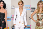 Katy Perry, Miley Cyrus and Taylor Swift at the AMAs. Photo / AP