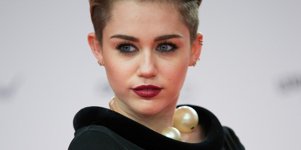 Singer Miley Cyrus has been named on GQ magazine's least influential list. Photo / AP