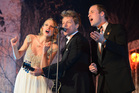 Britain's Prince William, sings with Taylor Swift, and Jon Bon Jovi at the Centrepoint Gala Dinner at Kensington Palace. Photo / AP