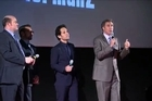 The News Team - Will Ferrell, Paul Rudd, Steve Carrell and David Koechner give lucky fans in attendance at the ANCHORMAN 2 Australian Premiere a special performance of 'Afternoon Delight'.