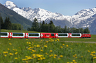 Taking The Glacier Express train is the perfect way to savour Switzerland's mountainous scenery.