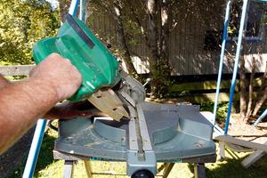 Step 1, cut 45 deg mitre joint.