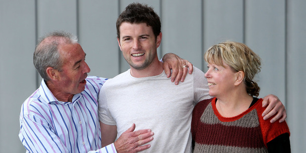 Will McTavish with parents Lindsay and Rachael. Photo / Hagen Hopkins