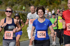 Rachel Grunwell, left, completed the Kerikeri Half Marathon in 1h 54m 33s. Photo / MARATHON PHOTOS