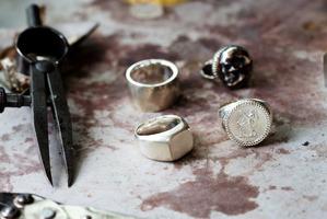Detail from jeweller Gabrielle Jelicich's Grey Lynn studio. Photo / Babiche Martens.