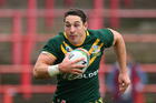 Billy Slater of Australia during the Rugby League World Cup Quarter Final match between Australia and USA at Racecourse Ground on November 16, 2013 in Wrexham, Wales. Photo / Getty Images.