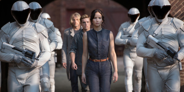 Jennifer Lawrence as Katniss Everdeen in 'The Hunger Games: Catching Fire'. Photo / Murray Close