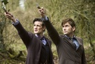 Matt Smith and David Tennant as The Doctor in the Doctor Who 50th Anniversary show 'The Day of the Doctor'.