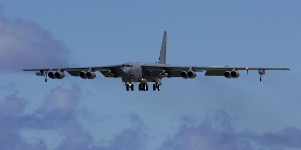 Two B-52 nuclear bombers were flown over an area disputed by Japan and China.