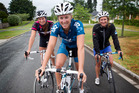 Lucy Spoors (left), Emma Twigg and Rebecca Scown (right) see the circuit as a good training ground. Photo / Christine Cornege