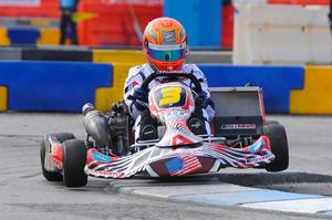 Auckland kart racer Daniel Bray competing in Las Vegas. Photo / Fast Company/Ash Budd