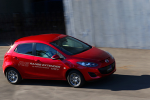 Mazda2 EV with range extender. Photo / Supplied