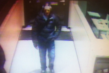 CCTV footage of the suspect in the carjacking.