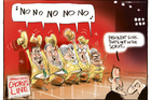The minor parties gang up on the Govt and refuse to allow a bailout of Chorus. Image / Rod Emmerson