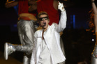 Bieber performing at last night's show. Photo / Getty Images