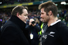 Coach Steve Hansen talks with captain McCaw following the match between against Ireland. Photo / Getty Images