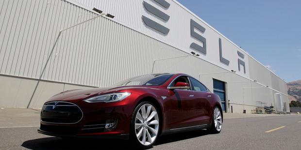 Tesla Model S outside the Tesla factory in Fremont, California. Photo / AP