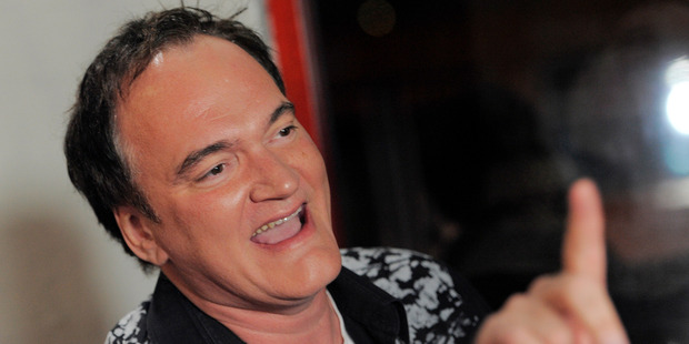 Director Quentin Tarantino was bitten on the nipple in a fight. Photo / AP