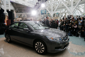 The Honda's price and fuel economy was praised by the judging panel for the 2014 Green Car of the Year awards. Picture / AP