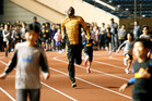 Jamaican sprint star Usain Bolt has set his sights on breaking his own 200m world record next year as he has no major competitions to distract his focus. Photo / AP