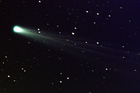 Comet ISON shows off its tail. Photo / AP
