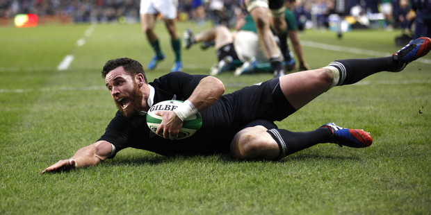 Loading All Blacks' Ryan Crotty scores their sides final try against Ireland during their Rugby Union international match at the Aviva Stadium, Dublin. Photo / AP