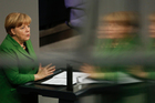 German Chancellor Angela Merkel delivers a speech at the German parliament Bundestag in Berlinin. Photo / AP