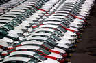 In this Sept. 19, 2013 photo, cars produced in Mexico for export are parked at the port terminal in the Gulf city of Veracruz, Mexico. Photo / AP