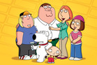 The Griffin Family from the cartoon show 'Family Guy'. Photo / FOX