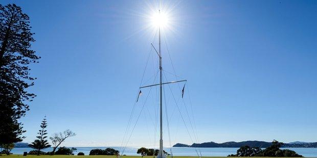 The flagpole at Waitangi. Photo supplied