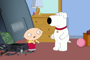 Fans are outraged after Brian (the dog) from Family Guy was killed off the show. Photo / FOX