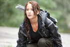 Jennifer Lawrence in The Hunger Games, which passes the Bechdel test.