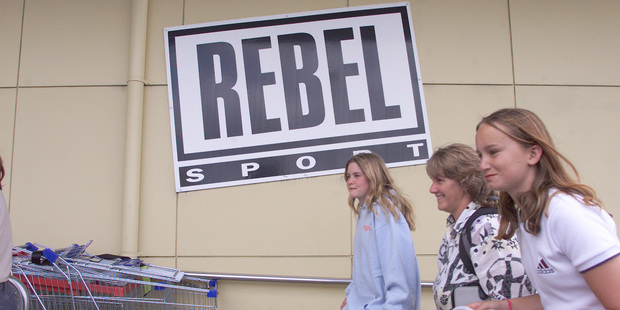 """Sporting retailer Rebel Sport was one of the chains taking part in today's """"Click Monday"""" promotion - where rival retailers join up to list on a central website. Photo / NZ Herald"""