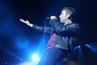 Blur lead singer Damon Albam performs at Vector Arena.