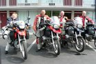 Riders on the Backblocks America road trip. From L to R: Joanne Morgan, Gareth Morgan, David Wallace and Roger Clausen.