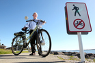 Phil Simpson gathered 118 signatures on his petition opposing the ban of bikes on the footpath.