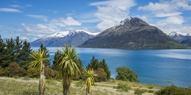The view across Lake Wakatipu from the 45ha Homestead Bay site.