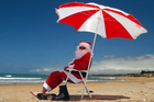 Warm temperatures are predicted for Christmas Day, meaning even Santa can cool off. Photo / APN