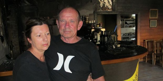 The Porch owners Kirsty Campbell and Pat Gibson are determined to get their just-bought restaurant back up and running after the devastating fire in the early hours of Saturday morning.