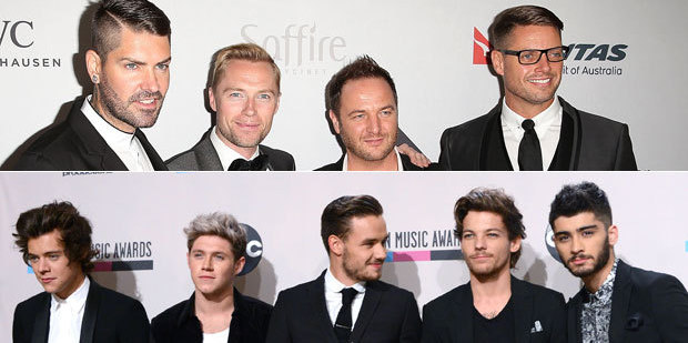 Boyzone, top, or One Direction? Photos / Getty Images