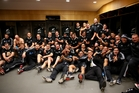 The All Blacks completed the first perfect season in professional rugby history. Photo / Getty Images