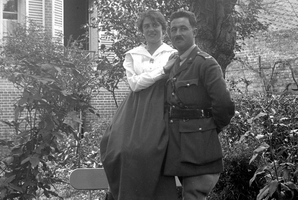 Marguerite and Alic Boeufve in the garden of the Villa des Acacias in Hallencourt, France, after their marriage in 1917. Photo / Alic Merlivat Archive