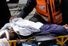 Blake McDavitt a RARO (Ruapehu alpine rescue) team member with the injured man.