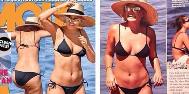 Lara Bingle has lashed out over bikini shots used by an Australian glossy mag. Photo / Instagram